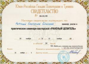 Семинар-мастерская Раненый целитель ведущий Виктор Ефимович Каган